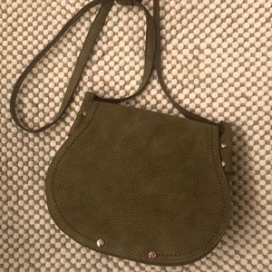 Olive Green Saddle Bag Purse